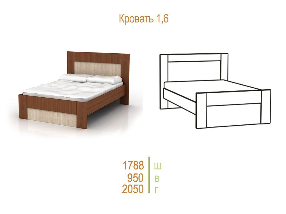 Комфорт-1 Кровать 1600 с ортопедическим основанием
